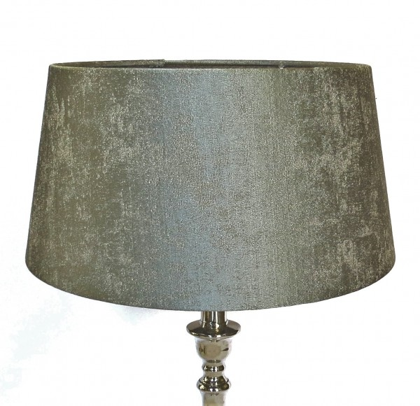 Lampenschirm Modern Halbhoch Seidengrün auf Transparent Colmore Leuchtenschirm